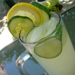 Cucumber Lemonade Recipe - Cucumber adds its cool flavor to this sparkling lemonade drink. A refreshing drink for any warm summer day.