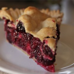 Blackberry Pie I Recipe - This is a simple pie to make with amazing results. Fresh or frozen blackberries can be used.