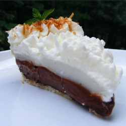 Coconut (Haupia) and Chocolate Pie Recipe - This pie is a chocolate coconut lover's dream, very rich and delicious.