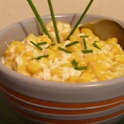 Cream Cheese Corn Recipe - Creamy corn is a wonderful foil for that Thanksgiving day turkey. Originally submitted to ThanksgivingRecipe.com.