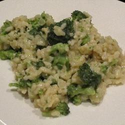 Broccoli Risotto with Cream and Lemon Recipe - This creamy risotto with broccoli has just a hint of lemon.