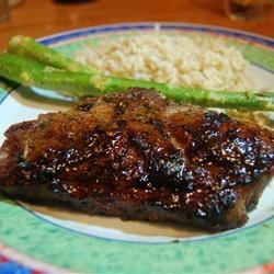 Grilled Lamb with Brown Sugar Glaze