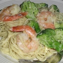 Garlic-Shrimp Angel Hair