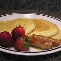 Buttermilk Panckes w/ Chicken Sausage