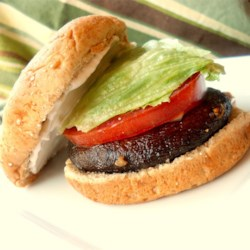 Portobello Sandwiches Recipe - Quick, juicy burgers. My friends and I eat them at least once a week!
