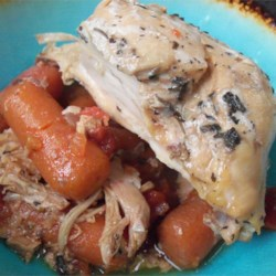 Slow Cooker Turkey Stew Recipe - This flavorful turkey stew cooks all day in the slow cooker so there's no additional work needed to put dinner on the table for the family when you get home from work.