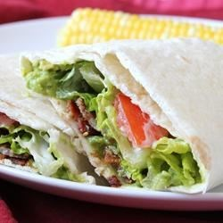 B.L.A.T. Wraps Recipe - My family loves B.L.A.T. sandwiches. The addition of avocado to the normal bacon, lettuce and tomato sandwich makes so much sense to a girl born in California! We have been calling these 'BLATS' for years.
