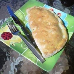 Pepperoni, Broccoli, and Three Cheese Calzone