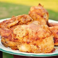 Easy Shake and Bake Chicken Recipe - No need to choose store-bought when you can easily make your own blend of flour and seasonings to  'shake and bake' your chicken.