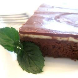 Creme de Menthe Bars Recipe - his is a very easy recipe.  My son won a purple ribbon (which is higher than a blue ribbon) at the county fair when he was 10 years old.  This was also his first paid 'catering' job for a graduation party when he was 12 (he's married now, so that gives you a clue as to how long I've had this recipe). Great brownies with a mint flavored filling.
