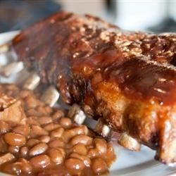 Baby Back Ribs Recipe - An overnight marinade makes these baked BBQ ribs extra succulent.