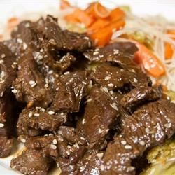 Awesome Korean Steak Recipe - Quick cooking Korean Steak which has been handed down from a Korean lady to my Mum, to myself!! Serve over rice or with fried vegetables.