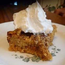 Pecan Toffee Squares Recipe - Yellow cake mix makes an easy crust for this sweet and gooey dessert.