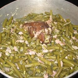 southern style thanksgiving green beans
