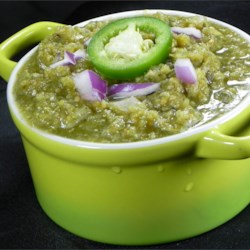 Chihuahua-Style Salsa Verde Recipe - The recipe for this versatile green sauce comes from Chihuahua, Mexico and can be used to add flavor to burgers, tamales, or really anything you like.