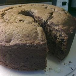 Cappuccino Pound Cake with Bittersweet Chocolate