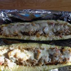 Baked Stuffed Zucchini
