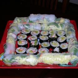 Spring Rolls and Sushi