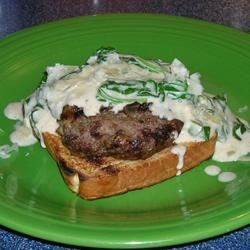 Spinach Smothered Steakhouse Burger