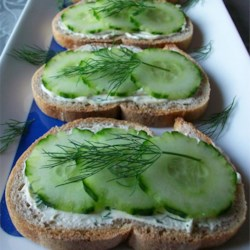 Cucumber Sandwiches III Recipe - Great appetizer. Every time I have served these everyone wants the recipe...and they're so easy! Just be sure to refrigerate the cream cheese mixture overnight!