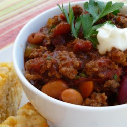 Fusion Chili Recipe - A true fusion of 'Tex' and 'Mex' style chili. I've made this recipe dozens of times, and it is great.  Each bite slowly delivers a sweet flavor followed by dry heat afterwards.  It takes a while to prepare, but well worth it.