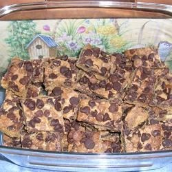 Peanut Butter/Chocolate Chip Cookie Bars