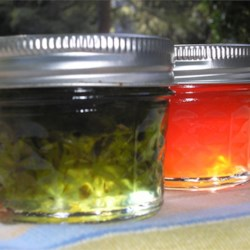 Hot Pepper Jelly Recipe - Enjoy this spicy treat on crackers with cream cheese. It also makes a festive holiday appetizer.