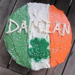 Damian McGinty Irish Flag Cake