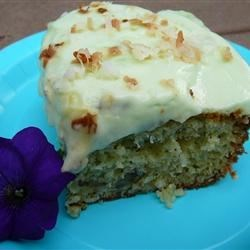 Garden Club Cake Recipe - This cool moist cake is a delightful dessert, especially among the Yuma Garden Club ladies. Besides being yummy, it's also green!