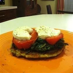 Zucchini Fritters with Fresh Mozzarella and Tomato