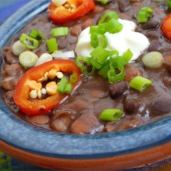 Blister Beans Recipe - Use your favorite beans if you do not like these. Tasty beans without the sugar. I love the fiery taste of Tabasco(TM), but you might want to back off that ingredient to remove some of the blister.