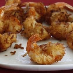 Coconut Shrimp I Recipe - These crispy shrimp are rolled in a coconut beer batter before frying. For dipping sauce, I use orange marmalade, mustard and horseradish mixed to taste.