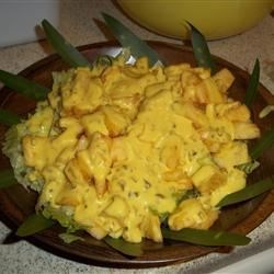 Cajun Pineapple Salad Recipe - A Southern salad that mixes the sweet juices of pineapple with the spicy tang of Cajun pepper.
