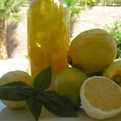 Limoncello II Recipe - Lemon zest-infused vodka is sweetened with sugar in this refreshing Italian aperitif.