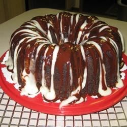 Fudgy Cream Cheese Tunnel Cake Recipe - A dense tunnel of chocolaty cream cheese winds through this cake, which is so decadent, yet surprisingly easy.