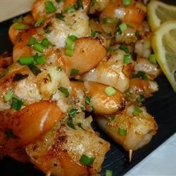 Lemon Ginger Shrimp Recipe - Barbeque shrimp marinated in lemon and ginger with a hint of sesame.