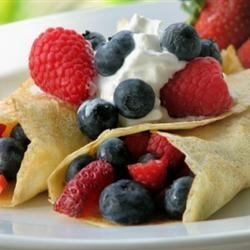 Vanilla Crepes Recipe - Crepes are made with extra vanilla for a heavenly aroma.