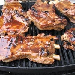 Barbecue Ribs Recipe - Sweet and spicy barbecued spareribs with a touch of rum.