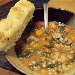 Sausage Barley Soup Recipe - This is a nice soup recipe with a lot of texture and flavor. It is a welcome change for those weeks when there doesn't seem to be a lot of variety... and all 3 of my kids even loved it. This can also be cooked in a pan on the stove until the barley and carrot are tender, but I prefer the slow cooker method. The flavors seem to blend better.