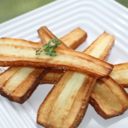Butter Fried Parsnips Recipe - Parsnips lightly seasoned and pan fried in butter.
