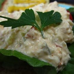 Egg Salad with a Kick Recipe - This is a delicious egg salad recipe that I have been preparing for a number of years and it always gets rave reviews and requests for the recipe. Serve on toast with tomato and lettuce.
