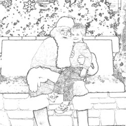 Santa and My Little Cookie!