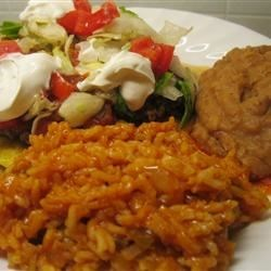 Mexican Rice Recipe - Saffron gives this special rice a wonderful flavor and color, along with cumin and chili powder. This is a local favorite in San Antonio.