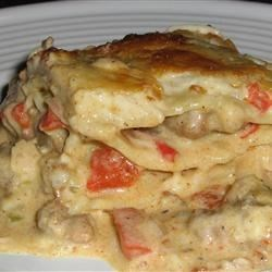 Cajun Chicken Lasagna Recipe - This lasagna has just the right amount of zing to it. The key to this is the andouille sausage.