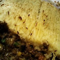 Shepherd's Pie Recipe - Cream of mushroom and cream of celery soup add body to this Shepherd's Pie.