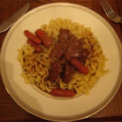 Easy Venison Stew Recipe - An easy slow cooker stew made with venison and cream of mushroom soup.