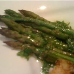 Asparagus with Lime and Ginger Recipe - Lightly steamed asparagus is flavored with lime and ginger.