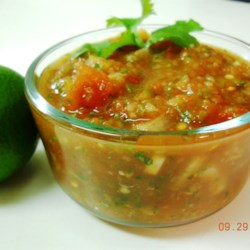 Fresh Salsa I Recipe - This all purpose salsa is great on tortilla chips, tacos and other Mexican-style favorites. Roasted jalapeno chile peppers give the salsa an excellent flavor.
