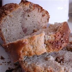 Cinnamon Bread I Recipe - Light, mildly spiced and crowned with butter and cinnamon sugar, this quick bread is bound to be a big hit.