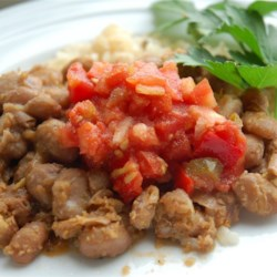 Terry's Texas Pinto Beans Recipe - An old fashioned 'pot of beans' recipe. It starts with dry pinto beans, onion, and chicken broth. Add green chili salsa, jalapeno and cumin for the spicy kick.